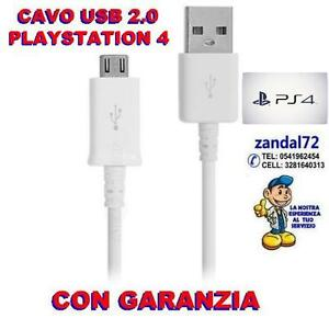 CAVO-USB-DI-RICARICA-X-CONTROLLER-DUALSHOCK-4-GAMEPAD-SONY-PLAYSTATION-4-BIANCO