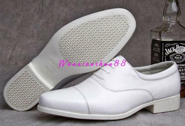 Mens oxford Low top business dress formal leather wedding white lace up shoes
