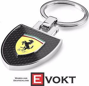 Ferrari Shield Carbon Look Keyring Key Ring 270032911