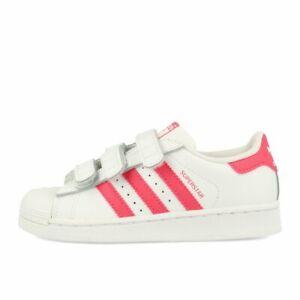 Details zu adidas Superstar CF C Kinderschuh White Real Pink Real Pink Schuhe Sneaker Weiß