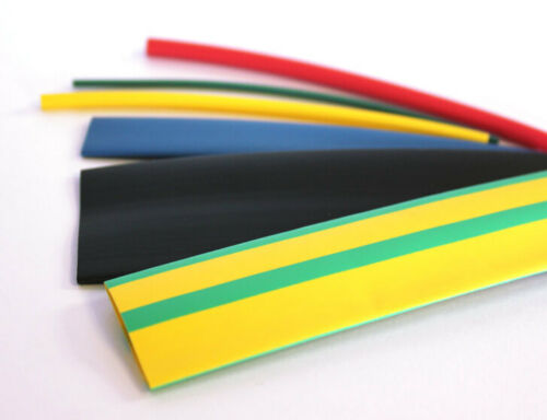 Ltf100-v Flame Retardant Heat Shrink-Green//Yellow Stripe x 12.70 mm x 5 m Tubing