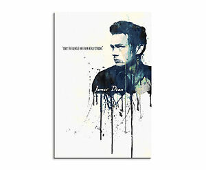90x60cm-PAUL-SINUS-Splash-Art-Gemaelde-Kunstbild-James-Dean-II