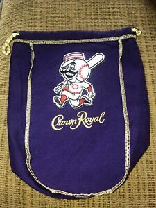 MLB Cincinnati Reds  Logo'd CROWN ROYAL BAGS 750 Ml 9x7