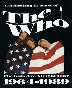 THE-WHO-1989-THE-KIDS-ARE-ALRIGHT-TOUR-CONCERT-PROGRAM-BOOK-TOWNSHEND-NM-2-MINT