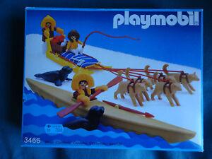 Rare Et Vintage Playmobil Esquimaux 3466 En Boîte Neuve Scellée 1985