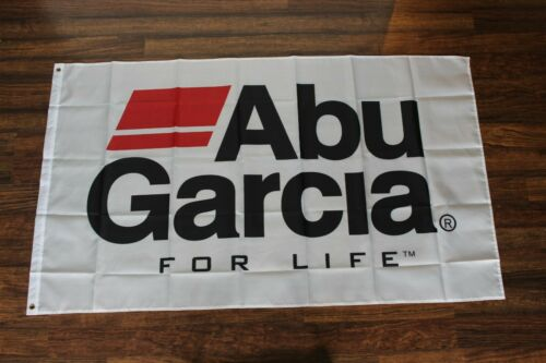 New Abu Garcia Banner Flag Fishing Rod /& Reel Pole Fish Sportsman For Life