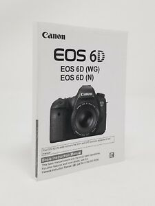 canon eos 6d slr camera genuine instruction owners manual book rh ebay com canon 30d user manual canon 30d user guide