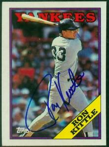 Original-Autograph-of-Ron-Kittle-of-the-NY-Yankees-on-a-1988-Topps-Card