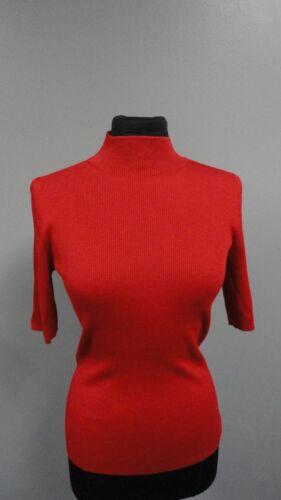 costine St taglia Red Blend a Casual John Wool Ff4208 S maglia Mockneck Crimson q8rwaCEq