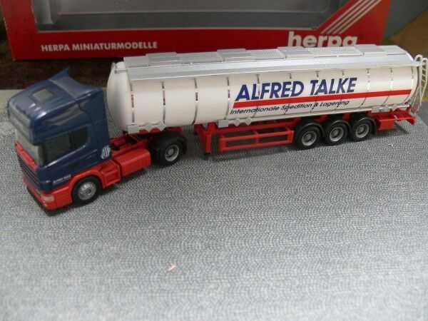 1 1 1 87 Herpa Scania Alfred Talke Tank-Sattelzug 144759 E 78b4d1