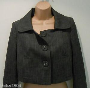 Blazer Jacket Størrelse Næste 8 Short nyt uk Petite Green Skræddersyet Office Grey YpwfpqX
