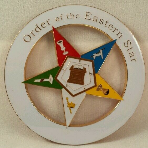 Order Of Eastern Star Oes Car Emblem Ebay