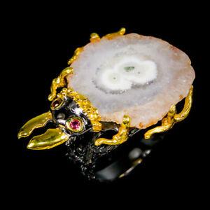 Druzy Quatz Ring Silver 925 Sterling Handmade Size 9 /R130475