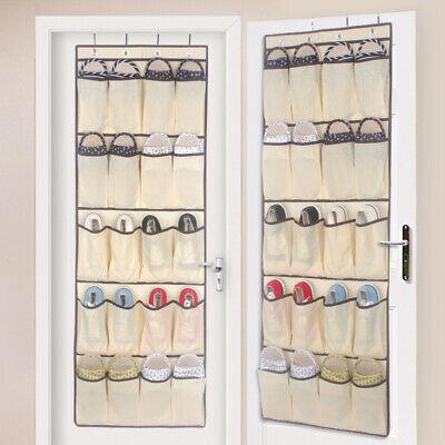 Consegna Veloce 20 Tasche Da Appendere Su Porta Scarpa Organizer Storage Rack Tidy Spazio 4 Ganci Saver- Pregevole Fattura
