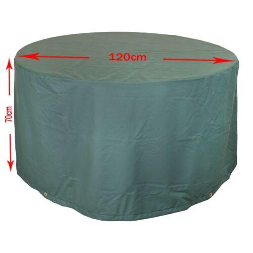 MADE in GERMANY cappa Premium per tavolo da giardino Ø 120 cm Tavola rotonda protezione agenti atmosferici