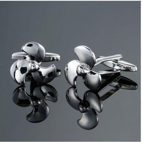 ocasión-gemelos-hélice-Nuevo Para Hombre Gemelos-Novedad-elegante-Hobby