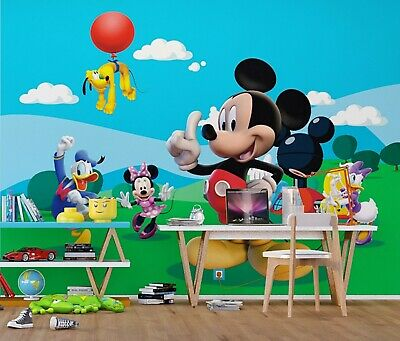 Getrouw Disney Wall Mural Wallpaper Children's Bedroom Mickey Mouse Design Premium Photo Met Traditionele Methoden