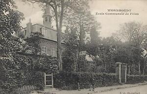 EARLY-1900-039-s-VINTAGE-WORMHOUDT-Ecole-Communale-de-Filles-POSTCARD