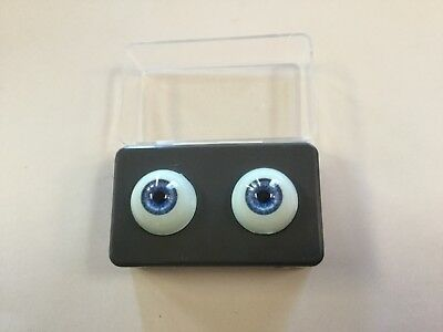24mm Round Blue//Grey Glastic Realistic Eyes