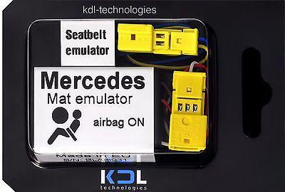 Umile Per Mercedes Classe C W203 2000-04/05 Bypass Sensore Tappetino Occupazione Sedile Emulatore- Eppure Non Volgare
