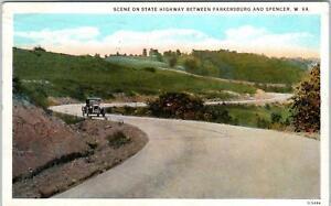 Details about SPENCER, WV West Virginia STATE HIGHWAY, Old CAR 1927 Postcard