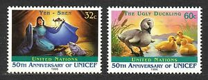 """UN / New York office - 1996 50 years UNICEF / Disney Mi. 720-21 MNH - Enschede, Nederland - EBay Click the button below to view more UN lots from our extensive offerings. After clicking select """"UN"""" in the blue side-bar on the left. Combine up to 10 lots for single postage rate and keep in mind: orders above € 25 FREE OF P - Enschede, Nederland"""