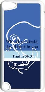 Multi-Blue-Faith-Anchor-with-Psalm-56-3-on-iPod-Touch-5th-Gen-5G-White-TPU-Case