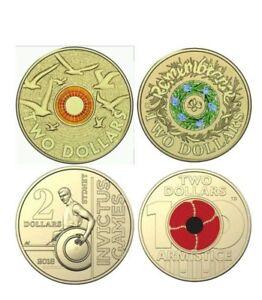 mix-of-Australian-coloured-coin-rare-armistice-invictus-remembrance-coin-4-coin