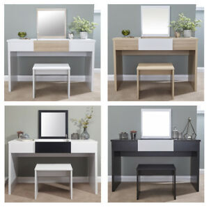 Details About Marlow Vanity Dressing Table With Stool Lift Up Mirror Dresser Bedroom Storage