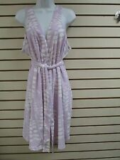 Vintage Stan Herman Terry Cloth Shower Wrap Robe (Lilac) - MEDIUM - NWT