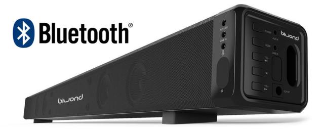 Barra de Sonido Envolvente JoyBox SoundBar 28W Bluetooth Biwond Cine en casa