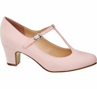 Graceland Damen T Spangen Pumps rosa Neu | eBay