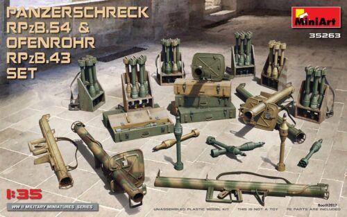 MiniArt 1//35 35263 WWII German Panzerschreck RPzB.54 /& Ofenrohr RPzB.43 Set
