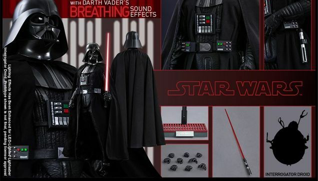 Hot Hot Hot Toys 1/6 STAR WARS EPISODE IV MMS279 Darth Vader MISB Pristine A New Hope a6ffc7