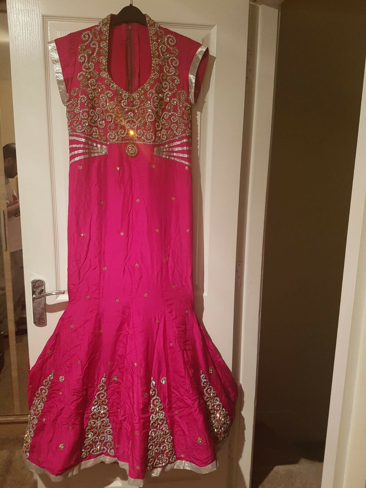 Party Bridal Gown Dress Indian Pakistani Party Wear (Pure Silk)