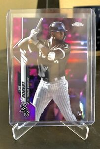 2020-Topps-Chrome-Pink-Refractor-60-Luis-Robert-Rookie-Card-RC-White-Sox
