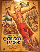AFFICHE CINEMA Sean Flynn Ann Todd LE FILS DU CAPITAINE BLOOD Demicheli 1962