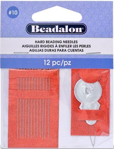 12 10 or 6 Beadalon Hard Beading Needles