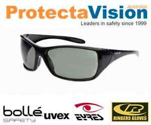 3431e6c0d2 Image is loading Bolle-Voodoo-Grey-Green-Polarised-Safety-Glasses -Sunglasses-