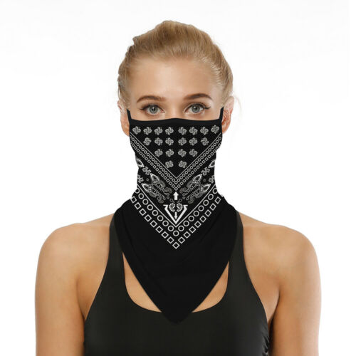 Summer Thin Scarf Bandana Half Face Cover For Motorcycle Cycling Riding Unisex