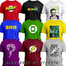 BAZINGA BIG BANG THEORY SHELDON Flash Riddler Green Lantern Soft kitty T-shirt