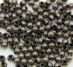 150-Pcs-3-2mm-Smooth-Black-Coloured-Spacer-Beads-Craft-Findings-FREE-UK-P-P-E107