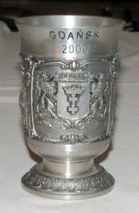 GDansk 2000 Pewter 4.75 inch Goblet - Excellent