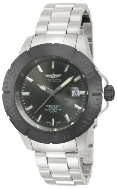 Invicta Pro Divers Men's Gunmetal Dial Stainless Steel Watch 14050