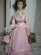 Franklin Mint Heirloom Doll GiGi Dressed in Lovely Pink Gown  MiB