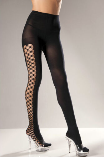 Plus Size FENCENET CUT-OUT Opaque SPANDEX PANTYHOSE Fashion Tights Closed Crotch