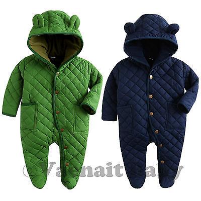 "Vaenait Baby bOYS Hoodie Padding Snowsuit All in one ""Pastel Padding"" 6-24M"