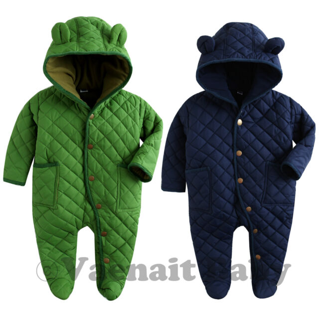 "NWT Vaenait Baby Boy Hoodie Snowsuit Padded Jumpsuit All-in-one ""Bear Padding"""