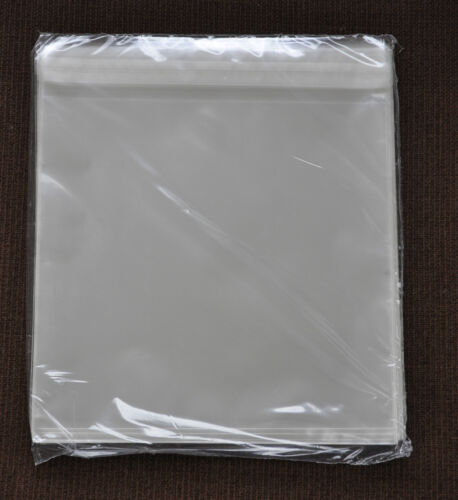 """160mmX165mm+30mm s//seal flap PACK OF 100 CLEAR STRIP SEAL CELLOPHANE 6/""""x6 SIZE"""