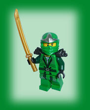 ஜ LEGO® Ninjago grüner Ninja Lloyd ZX / Green Ninja + Waffenhalter+ gold sword ஜ